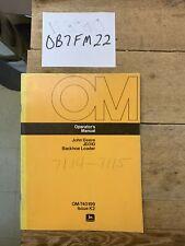 John Deere Model 310 Backhoe Loader Owner Operator Maintenance Manual Omt40199