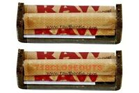 2 AUTHENTIC RAW HEMP PLASTIC ROLLING PAPER MACHINE HAND ROLLER 79MM 1.25