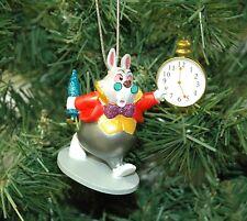 Alice in Wonderland White Rabbit Christmas Ornament
