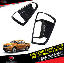 4 DOORS METALLIC Black TailLight Lamp Cover FOR NISSAN NAVARA NP300 2014-2017