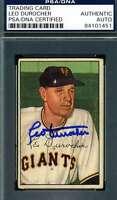 Leo Durocher 1952 Bowman Psa Dna Autograph Authentic Hand Signed