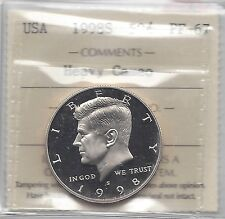 **1998S** USA, Kennedy Half Dollar, ICCS Graded **PF-67 HC**