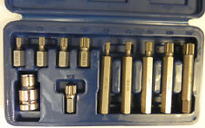 """Steckschlüssel Satz Kfz Werkzeug Innen Vielzahn Nüsse Nuß M5 M6 M8 M10 M12 1/2"""""""