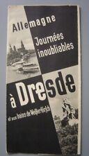 Ancien dépliant touristique  Guide de DRESDE Dresden  Bains de Weisser Hirsch