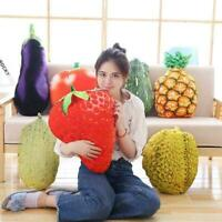 Novelty Food Plush Toy Stuffed Throw Pillow Home Sofa A6X4 Cushion Fruit 3D H6X8