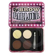W7 Brow Parlour Eyebrow Kit Brown Blonde Powder Wax Tweezers Brush Highlighter