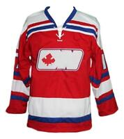 Any Name Number Size Ottawa Nationals Custom Retro Hockey Jersey Red