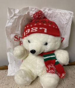 1987 Dayton's Hudson Santa Bear w Original Bag