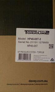 Davey HP45-05T-2 HP Water Pressure System -Torrium - Brand New in box