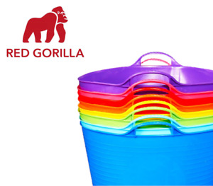 GENUINE RED GORILLA FLEXIBLE FEED TUBS BUCKETS ALL SIZES 75L 38L 35L 26L 15L 5L