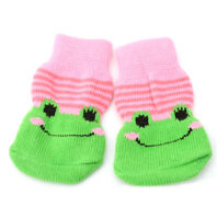 4x Assorted Pattern Pet Dog Puppy Cat Non-Slip Shoes Slippers Socks Clothes