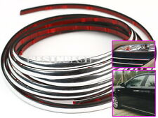 3m*6mm Bande Chrome Autocollante Ruban Décor Portiere Voiture Styling Tuning