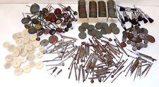 Vintage Lot Jewelers Rotary Tool Burs Bits Sanding Grinding Wheel Damascus Disks
