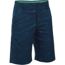 Boys Under Armour Size 18 Match Play Printed Blue Golf Shorts UA NWT $50
