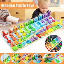 Montessori Educational Wooden Toys For Children Kid Busy Board Math Preschool US
