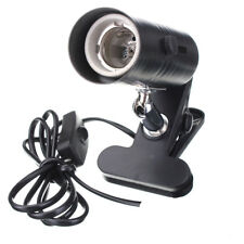 Aquarium Reptile Light Holder Clamp Ceramic Infrared Emitter Heat Lamp Stand