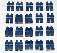 Lego Lot of 20 New Dark Blue Hips and Legs Blue Jeans Minifigure Pants Body Part