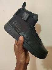 NIKE SF Air Force One AF1 MID GS Trainers Boots Triple Black UK 5 US 5.5 EUR 38