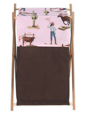 Sweet Jojo Designs Kid Baby Clothes Laundry Hamper for Western Cowgirl Bedding