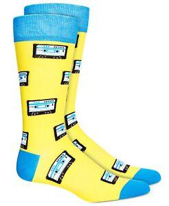 Bar III Men's Cassette Socks Yellow