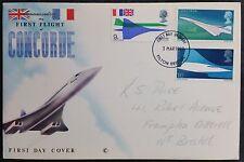 GB 1969 Concorde 002 First Flight Cover, Bristol Filton Cancel, Pencil Address