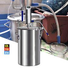 12-35L Casa Distillatore Acqua per Oli Essenziali Alambicco Grappa Acciaio Inox