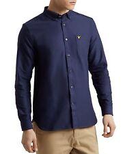 Lyle & Scott Lw614v Plain Oxford Navy Shirt L