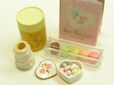 Re-ment Elegant sweet & cake dessert #8-Wedding gift set macaron heart shape box