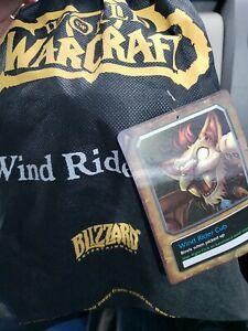 Wind Rider Cub Plush w/ Unused Code & Bag  - WoW - World Of Warcraft