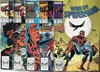 Web Of Spider-Man No's 45-49 VF 1988 -1989 Great 5 Comic Bundle Deal