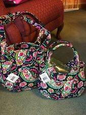 Vera Bradley Glenna Handbag and Matching Girls Mini Tote Bag. NWT