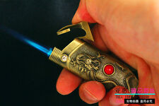 Creative Dragon Raised Metal Jet Torch Flame Butane Refillable Cigarette Lighter