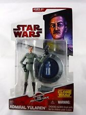 """STAR WARS The Clone Wars TCW Red MOC 3.75"""" Figure Toy Admiral Yularen CW07"""