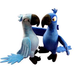 "2PCS BLU & JEWEL 12"" Rio Plush Toy Parrot Bird Stuffed Animal Doll for Kid Gift"