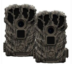 2 PACK Stealth Cam Browtine Trail Game Camera 14 MP Deer Hunting