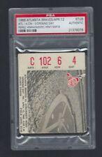 1968 MLB REDS @ BRAVES TICKET STUB PHIL NIEKRO HR #1 WIN #18 PEREZ HR #44 PSA