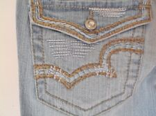 "NEW Women's Jeans R.E.U.S.E., Stretch Denim, 27"" Waist X 32"" Inseam, Embroidered"