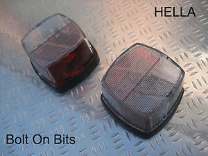 ACE Napoli Motorhome Fiat Ducato Red & White Side Markers PAIR Light/lamps