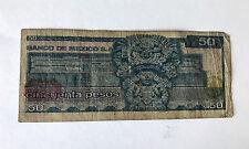 Cincuenta Pesos $50 Banco De Mexico Circulated Banknote