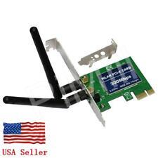 PCI-E Express 300M Wireless WiFi Card Adapter w/Low Profile Bracket US Stock
