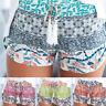 NEW Womens Ladies High Waist Summer Casual Floral Running Beach Hot Pants Shorts