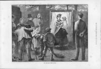 1873 FINE ART Antique Print - Travelling Photographer Children Soldier  (187)