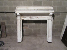 ~ ORNATE ANTIQUE CARVED OAK FIREPLACE MANTEL ~ 60 X 57 41 OPENING ~ SALVAGE