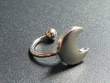 Ear Cuff  SILVER CRESCENT MOON - Upper Helix CARTILAGE CLIP EARRING