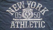 VINTAGE NEW YORK ATHLETIC T SHIRT..SIZE MEDIUM..21 PITS