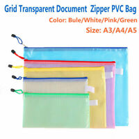 A3/A4/A5 Zip Zippi Clear Transparent Seal Bags Document Bag Folders Wallets