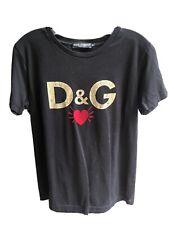 Dolce & Gabanna Black Short Sleeve Top Glitter Regular Size 46