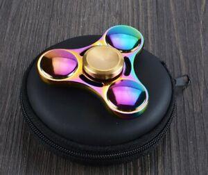 Rainbow Heavy Metal Tri-wing Fidget Spinner EDC Focus Finger  ADHD AU SHOP