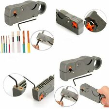 Rotary Automatic Double Blades Cable Cutter Pliers RG6/59 Wire Stripper