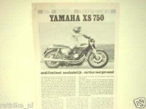 YAMAHA XS 750  ROADTEST MOTORCYCLE MOTORRAD BIKE XS750